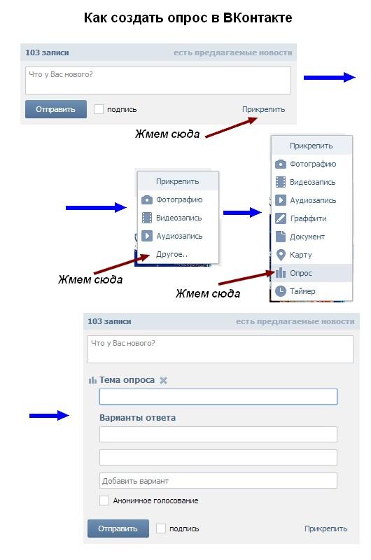Опросы в ВКонтакте: краткая инструкция